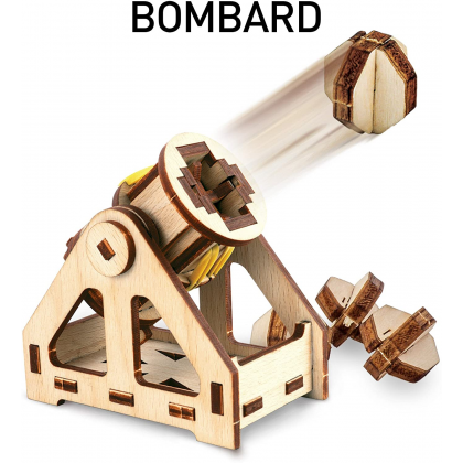 NATIONAL GEOGRAPHIC   Da Vinci's Original Design Inventions Bombard   STEM Scientific Educational Toys For Boys Girls Kids