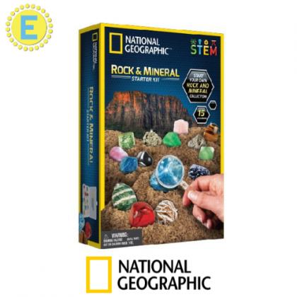 NATIONAL GEOGRAPHIC   Rock and Mineral Starter Kit (15 Specimen Inside!)   STEM Science Educational Toys For Boys Girls Kids