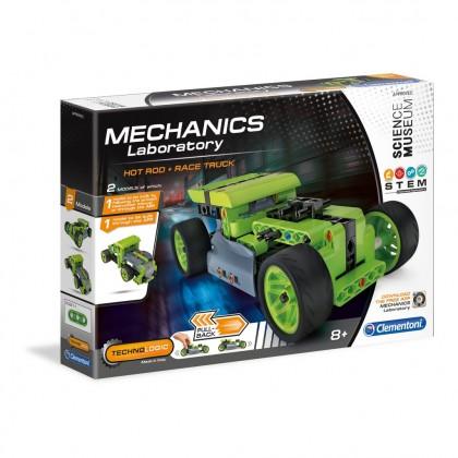 (100% Original) Clementoni Mech Lab   Hotrod Pull Back   STEM Educational Toys For Boys Girls Kids