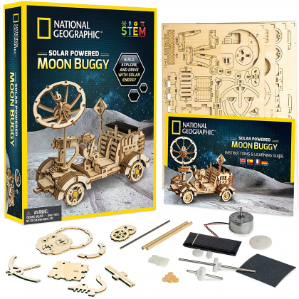 NATIONAL GEOGRAPHIC   Solar Powered Moon Buggy   STEM Scientific Educational Toys For Boys Girls Kids