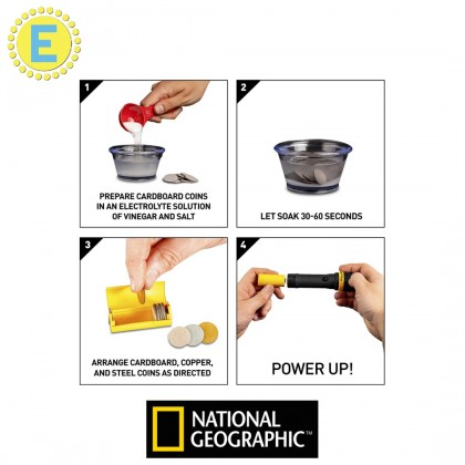 NATIONAL GEOGRAPHIC Science Magic   Coin Powered Flashlight   STEM Educational Toys For Boys Girls Kids