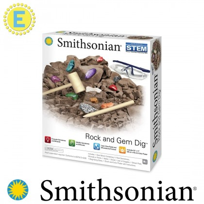 (100% Original) Smithsonian | Rock and Gem Dig | STEM Educational Toys For Boys Girls Kids