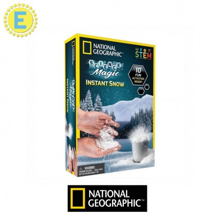 NATIONAL GEOGRAPHIC Science Magic | Instant Snow | STEM Educational Toys For Boys Girls Kids