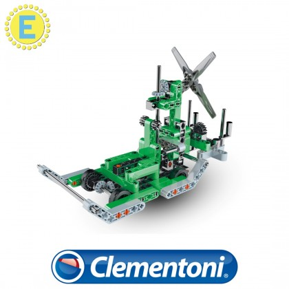 (100% Original) Clementoni Science & Play | Mech Lab Triple Engined Helicopter & Airboat | STEM Educational Toys For Boys Girls Kids