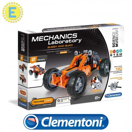 (100% Original) Clementoni Science & Play   Mech Lab Buggy & Quad   STEM Educational Toys For Boys Girls Kids