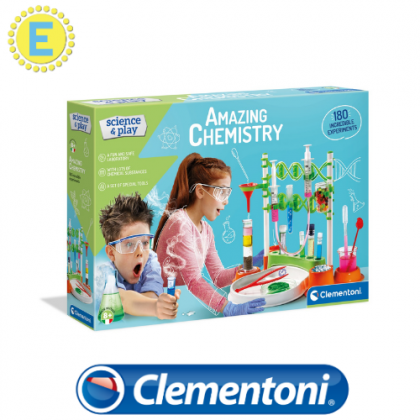 (100% Original) Clementoni  Amazing Chemistry Set  STEM Science Educational Toys For Boys Girls Kids