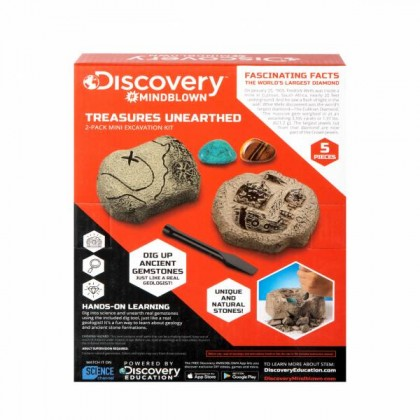 DISCOVERY MINDBLOWN | Treasure Unearthed 2-Pack Mini Excavation Kit | STEM Science Educational Toys For Boys Girls Kids