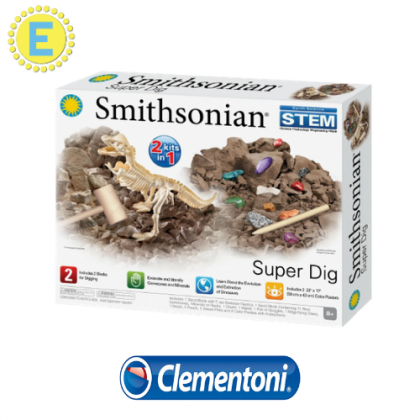 Smithsonian Advanced Science Kits - Super Dig STEM Science Educational Toys For Boys Girls Kids