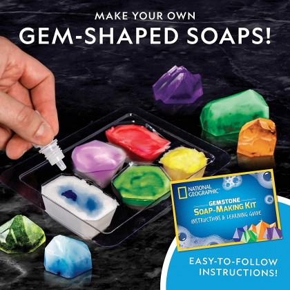 NATIONAL GEOGRAPHIC   Gemstone Soap Activity Kit   STEM Scientific Educational Toys For Boys Girls Kids