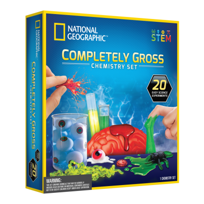 NATIONAL GEOGRAPHIC   Completely Gross Chemistry Set (20 Easy Science Experiments)   STEM Educational Toys For Boys Girls Kids