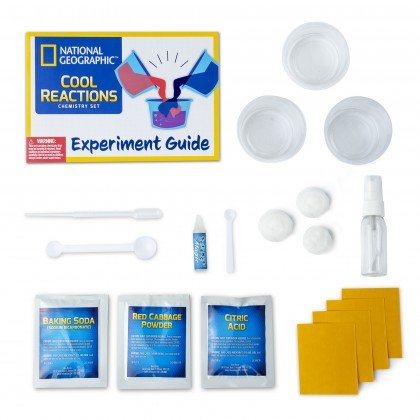 NATIONAL GEOGRAPHIC | Cool Reactions Chemistry Kit | STEM Scientific Educational Toys For Boys Girls Kids