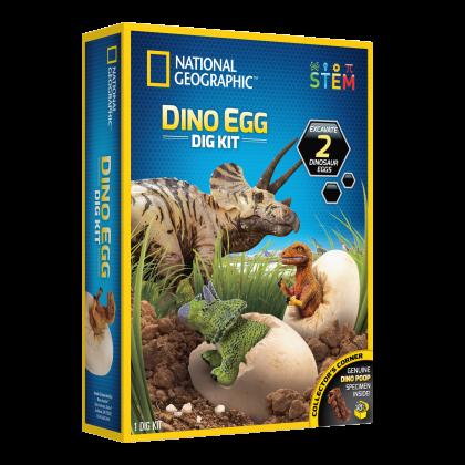 NATIONAL GEOGRAPHIC  Dinosaur Egg Dig Kit (Genuine DINO POOP Specimen Inside!)  STEM Scienrific Educational Toys For Boys Girls Kids